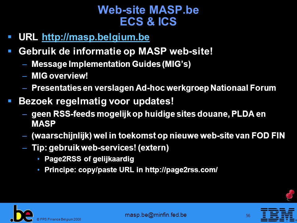 Web-site MASP.be ECS & ICS