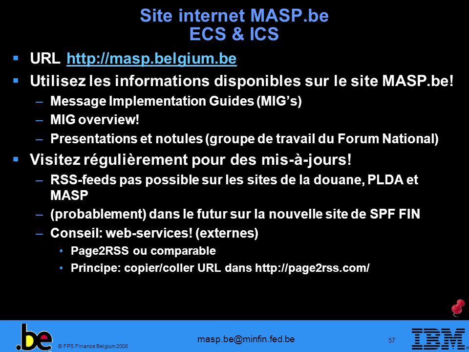 Site internet MASP.be ECS & ICS