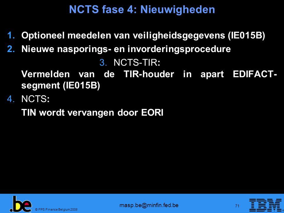 NCTS fase 4: Nieuwigheden