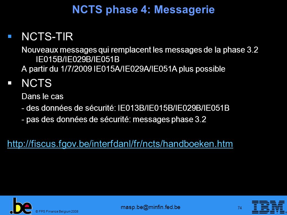 NCTS phase 4: Messagerie