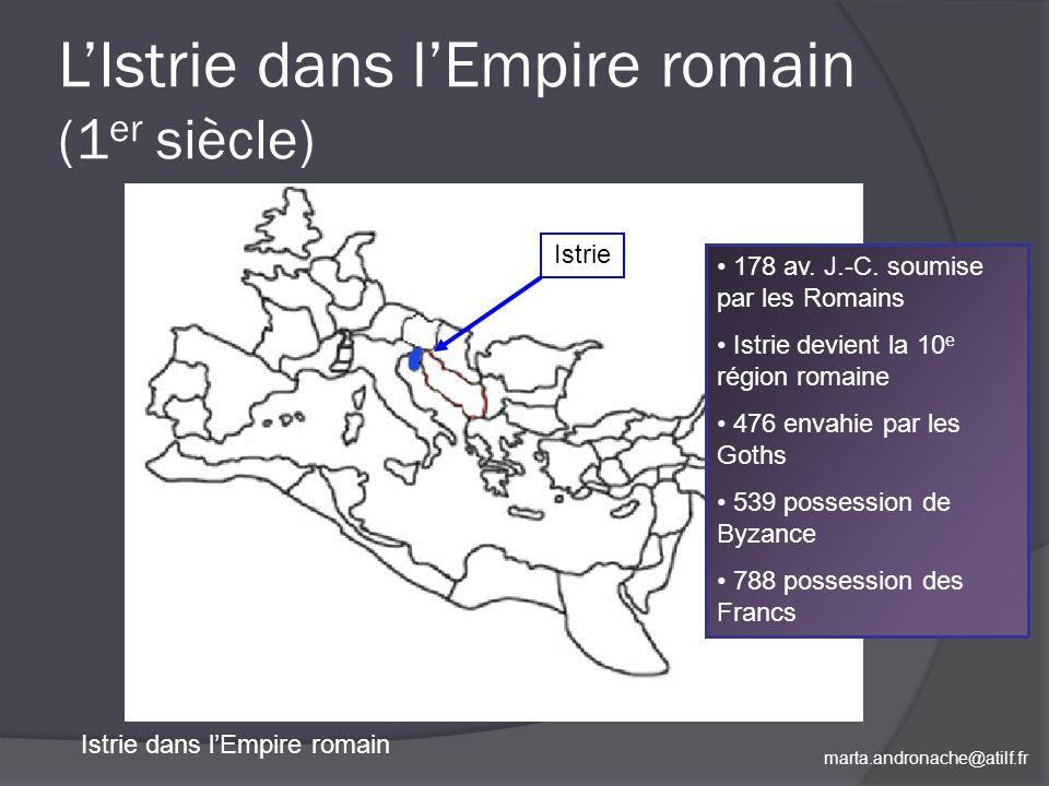 L'Istrie dans l'Empire romain (1er siècle)