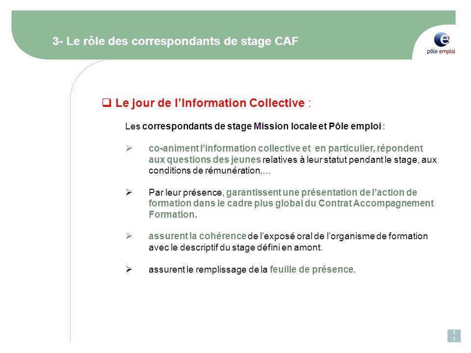 3- Le rôle des correspondants de stage CAF