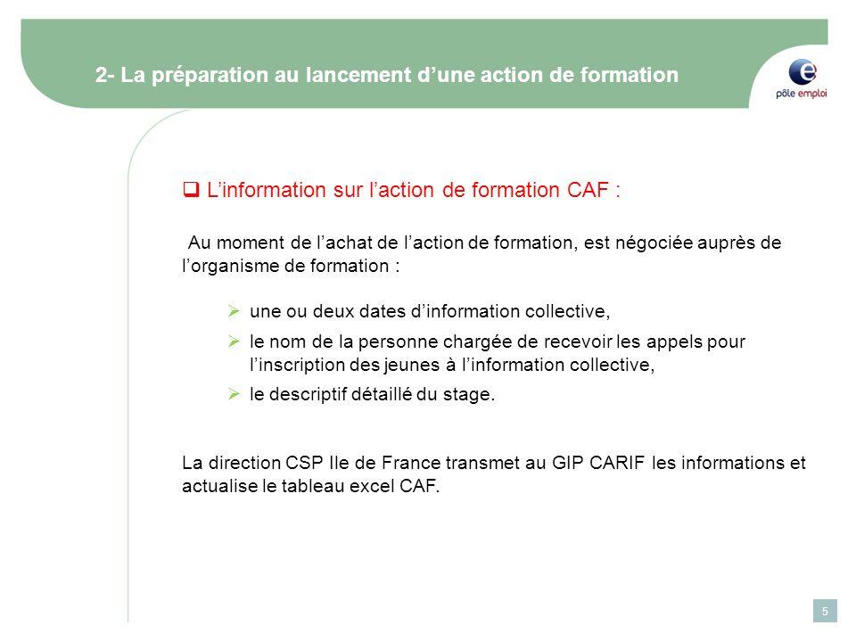 2- La préparation au lancement d'une action de formation