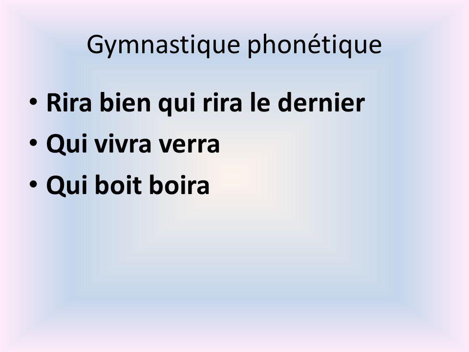 Gymnastique phonétique