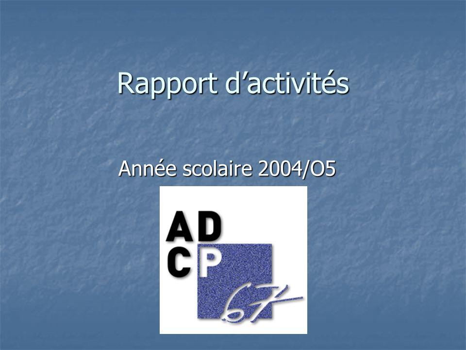 Rapport d'activités Année scolaire 2004/O5
