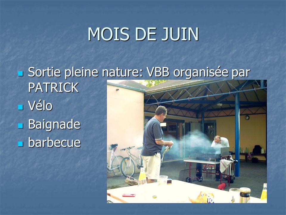 MOIS DE JUIN Sortie pleine nature: VBB organisée par PATRICK Vélo