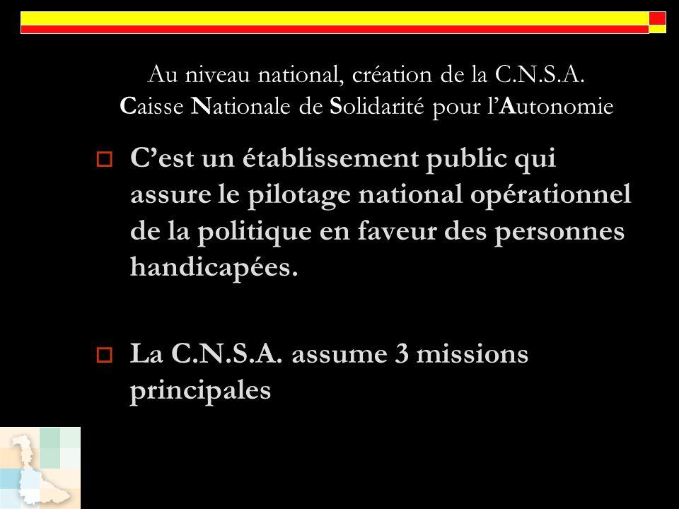 La C.N.S.A. assume 3 missions principales