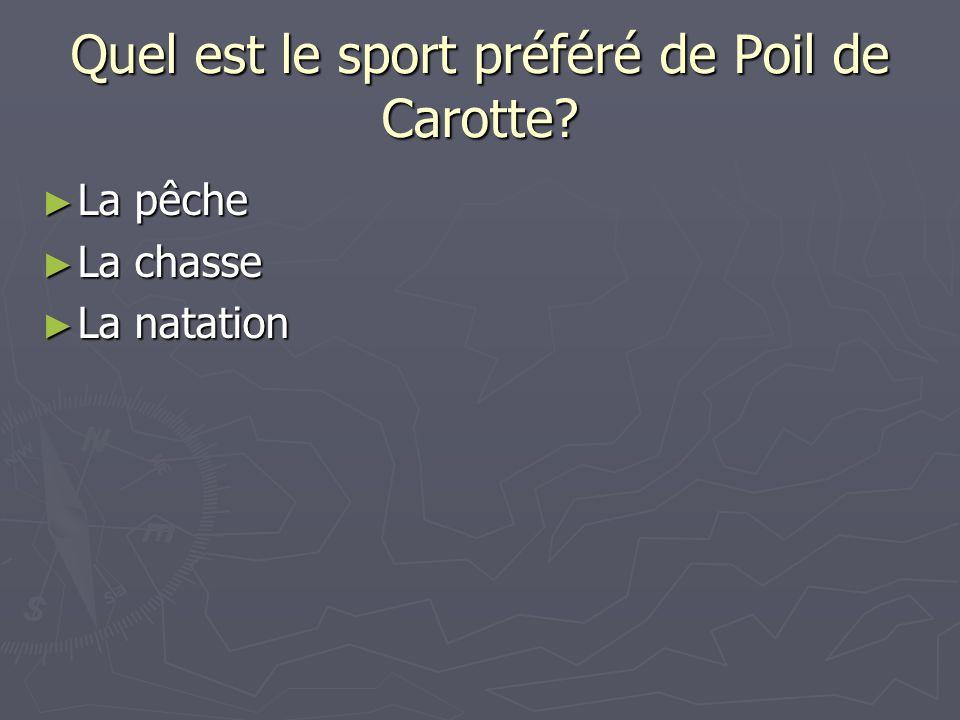 Quel est le sport préféré de Poil de Carotte