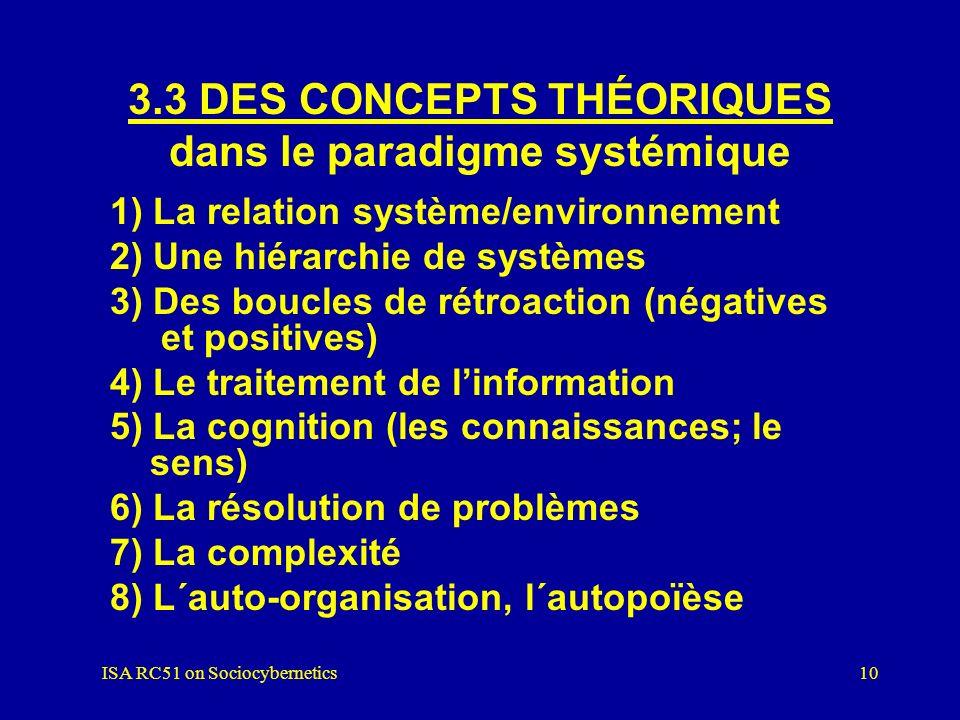 3.3 DES CONCEPTS THÉORIQUES dans le paradigme systémique