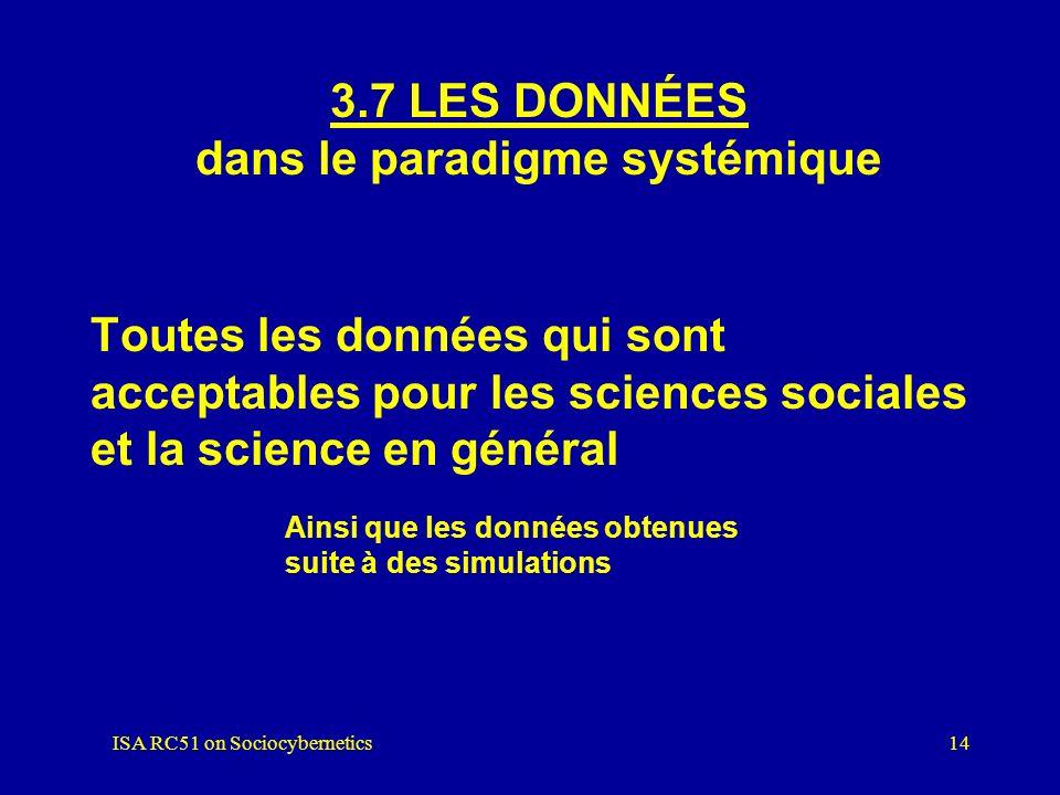 3.7 LES DONNÉES dans le paradigme systémique