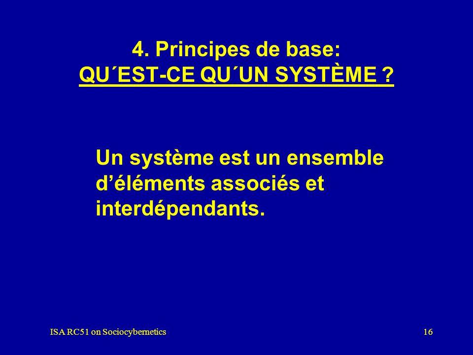 4. Principes de base: QU´EST-CE QU´UN SYSTÈME