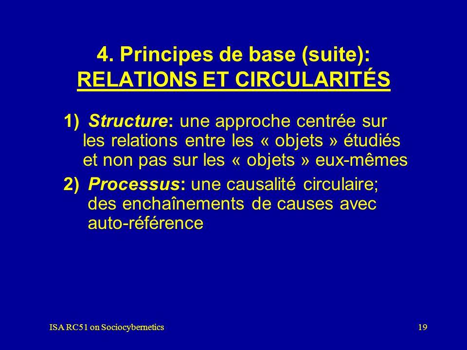 4. Principes de base (suite): RELATIONS ET CIRCULARITÉS