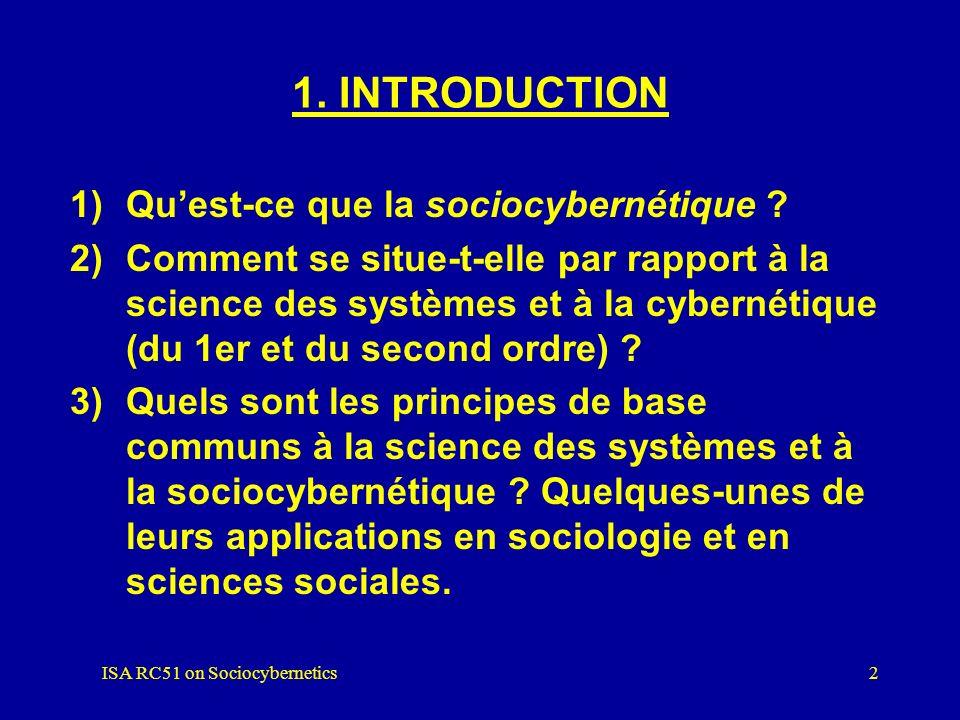 ISA RC51 on Sociocybernetics