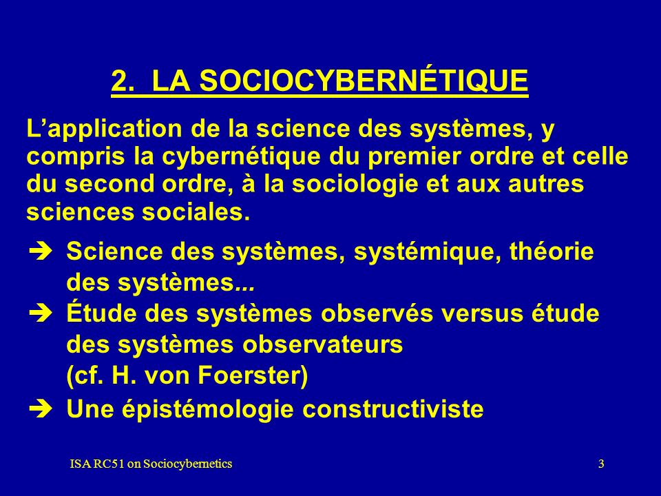 ISA RC51 on Sociocybernetics
