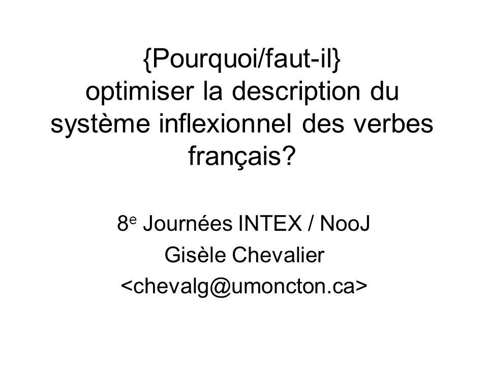 8e Journées INTEX / NooJ Gisèle Chevalier <chevalg@umoncton.ca>