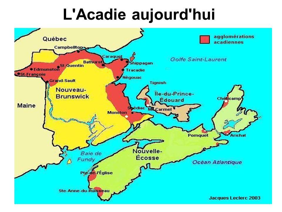 L Acadie aujourd hui