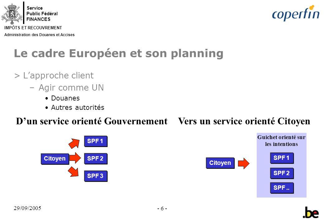 Le cadre Européen et son planning