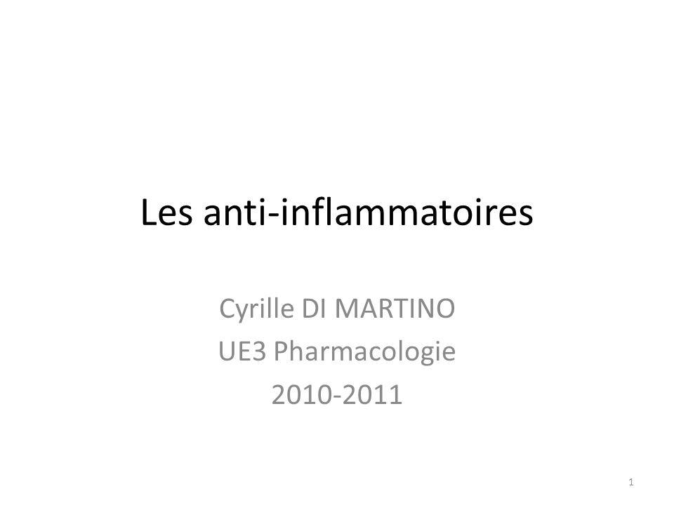 Les anti-inflammatoires