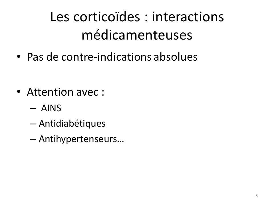 Les corticoïdes : interactions médicamenteuses