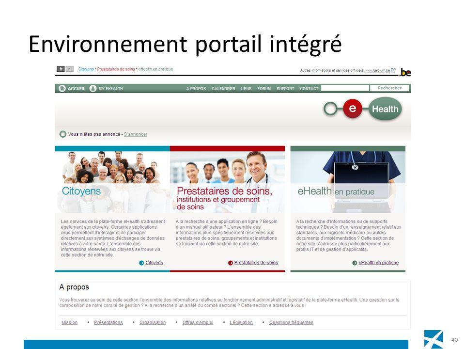 Environnement portail intégré