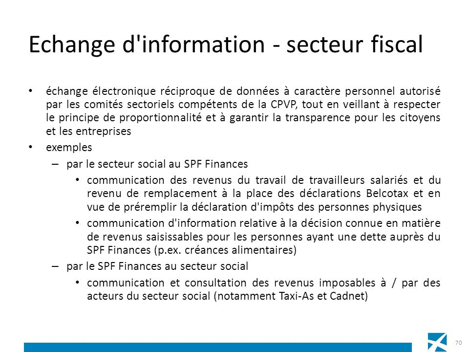 Echange d information - secteur fiscal