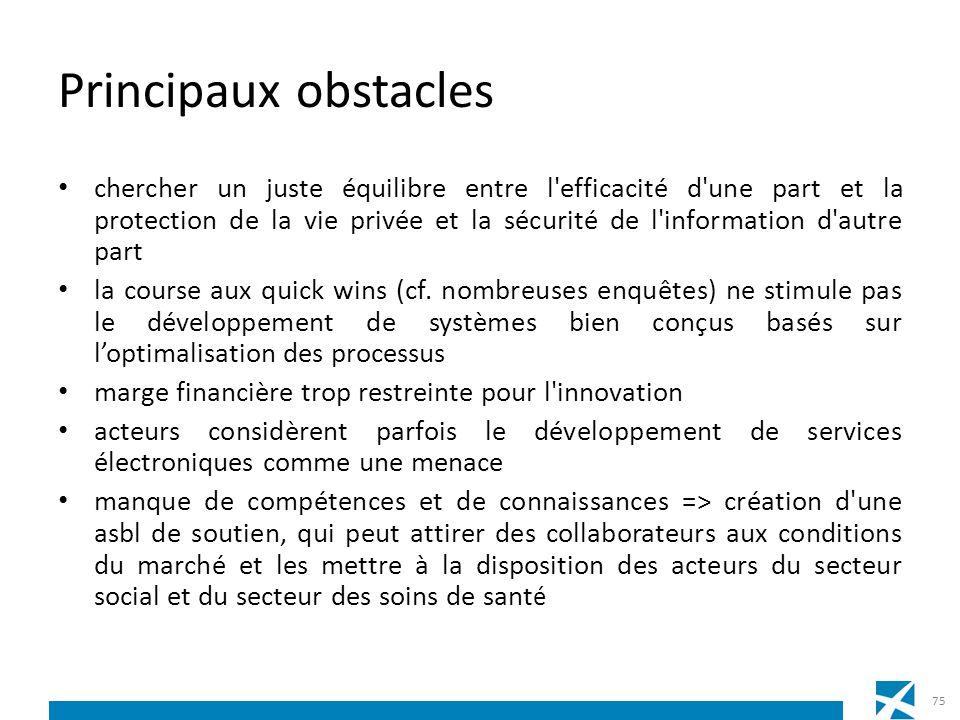 Principaux obstacles