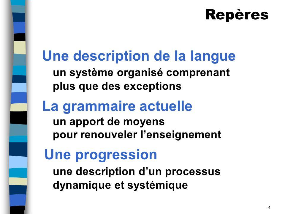 Une description de la langue
