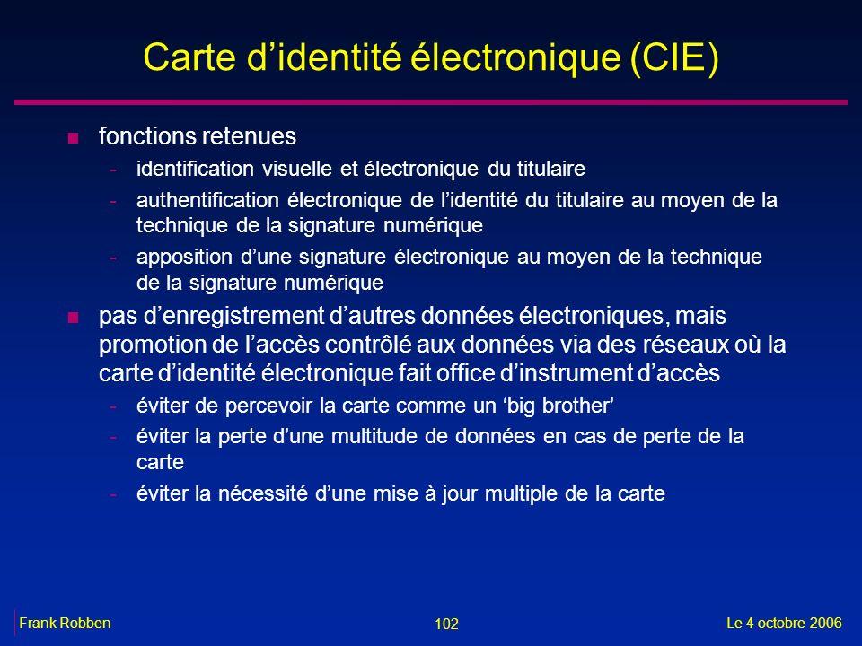 Carte d'identité électronique (CIE)