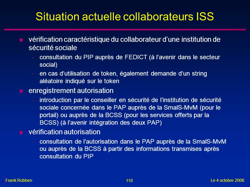 Situation actuelle collaborateurs ISS