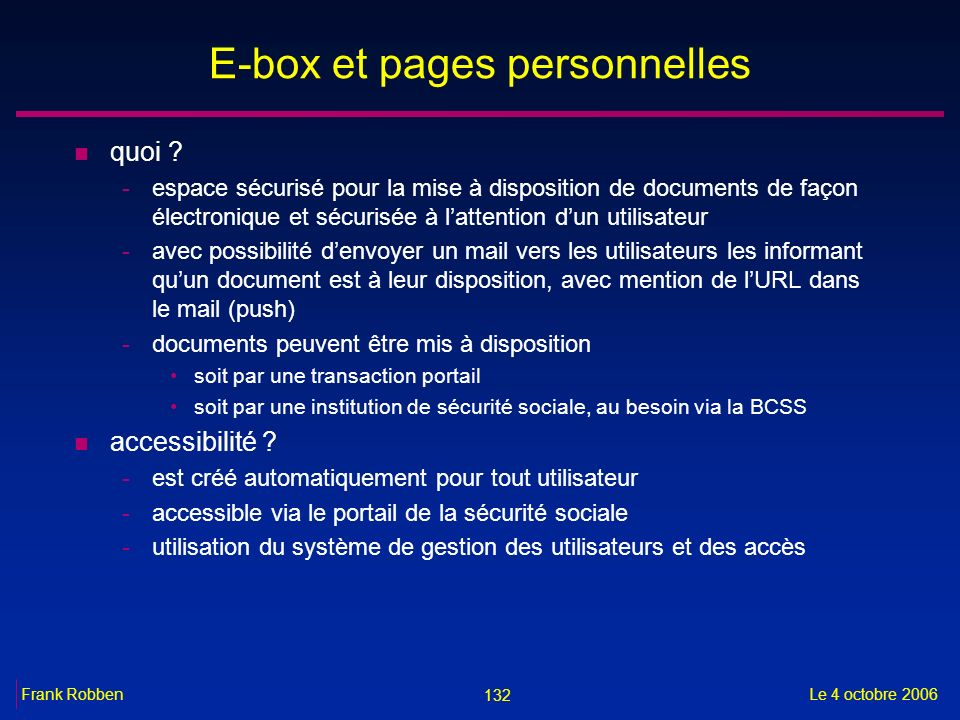 E-box et pages personnelles