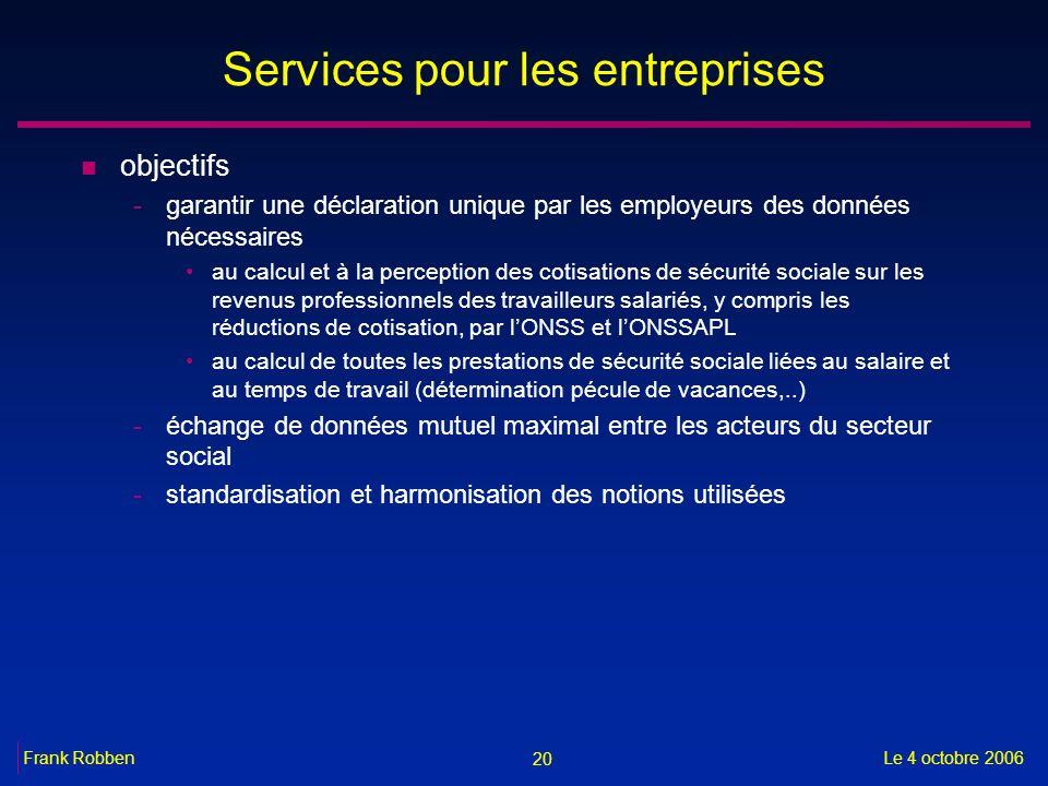 Services pour les entreprises