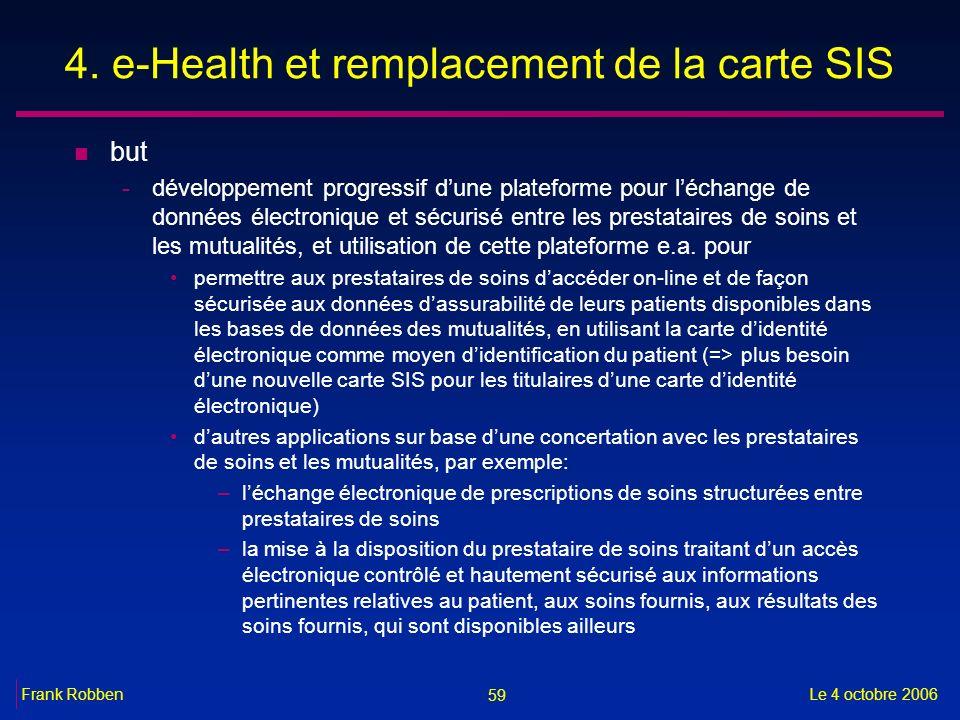 4. e-Health et remplacement de la carte SIS