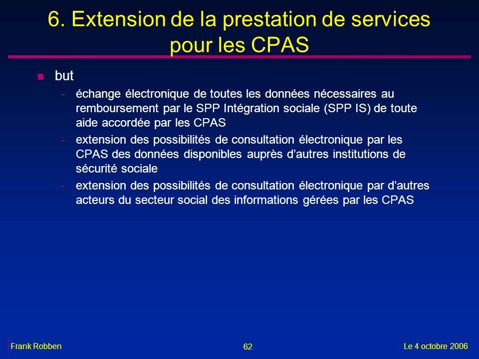 6. Extension de la prestation de services pour les CPAS