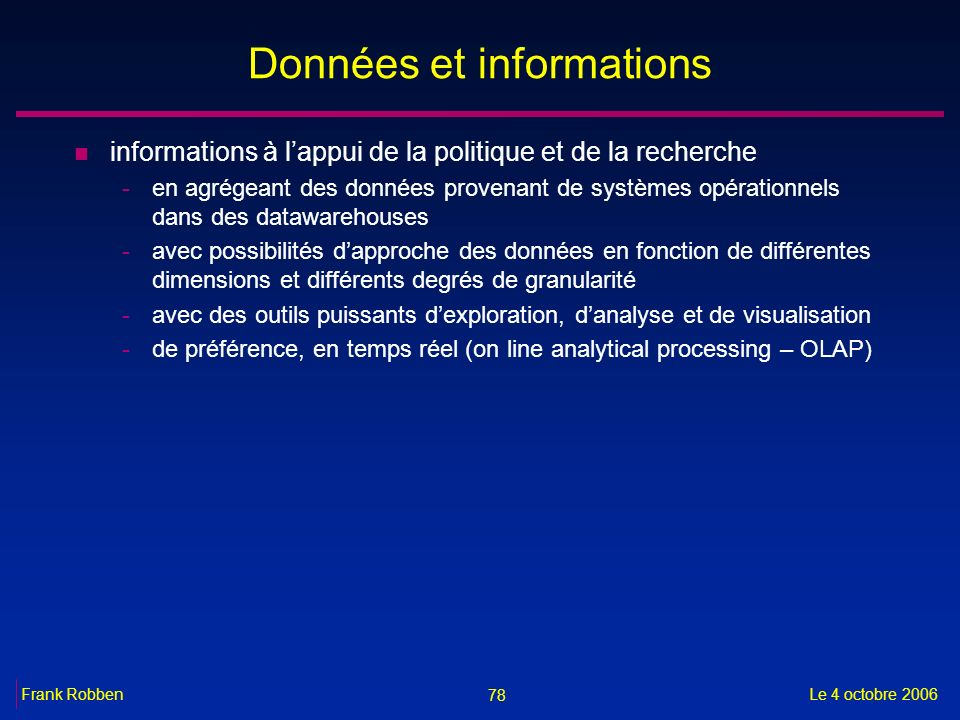 Données et informations