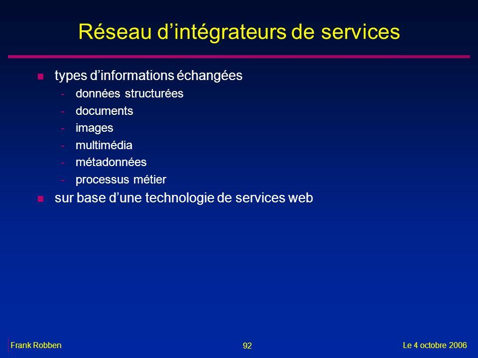 Réseau d'intégrateurs de services