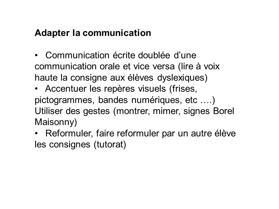 Adapter la communication