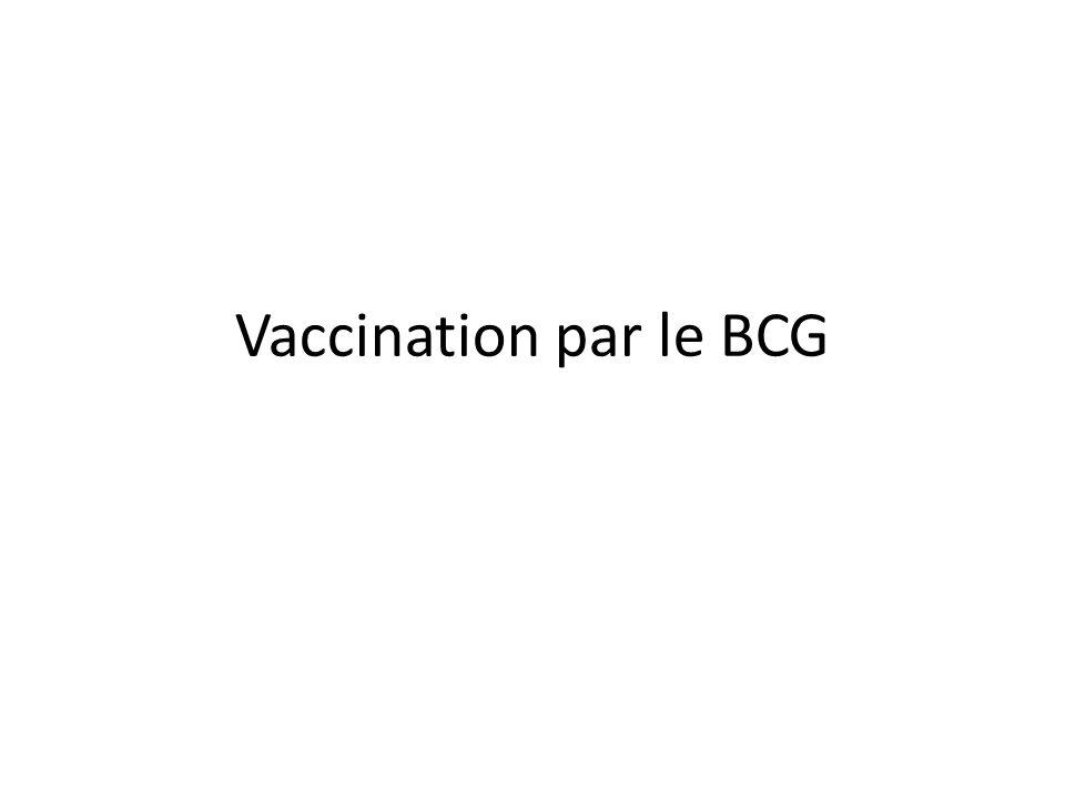 Vaccination par le BCG