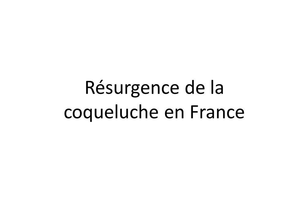 Résurgence de la coqueluche en France