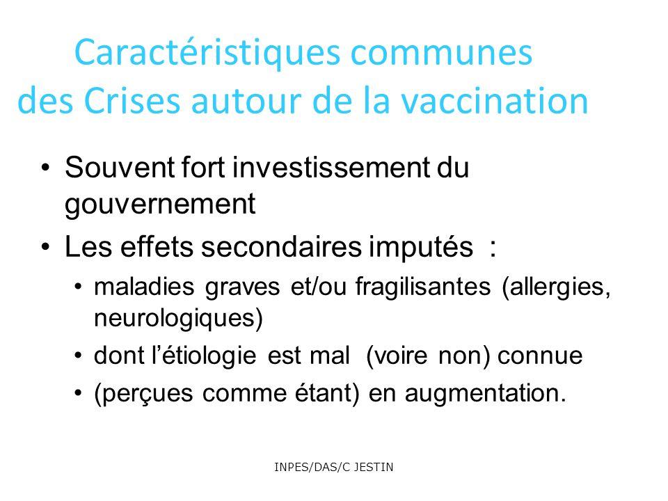Caractéristiques communes des Crises autour de la vaccination