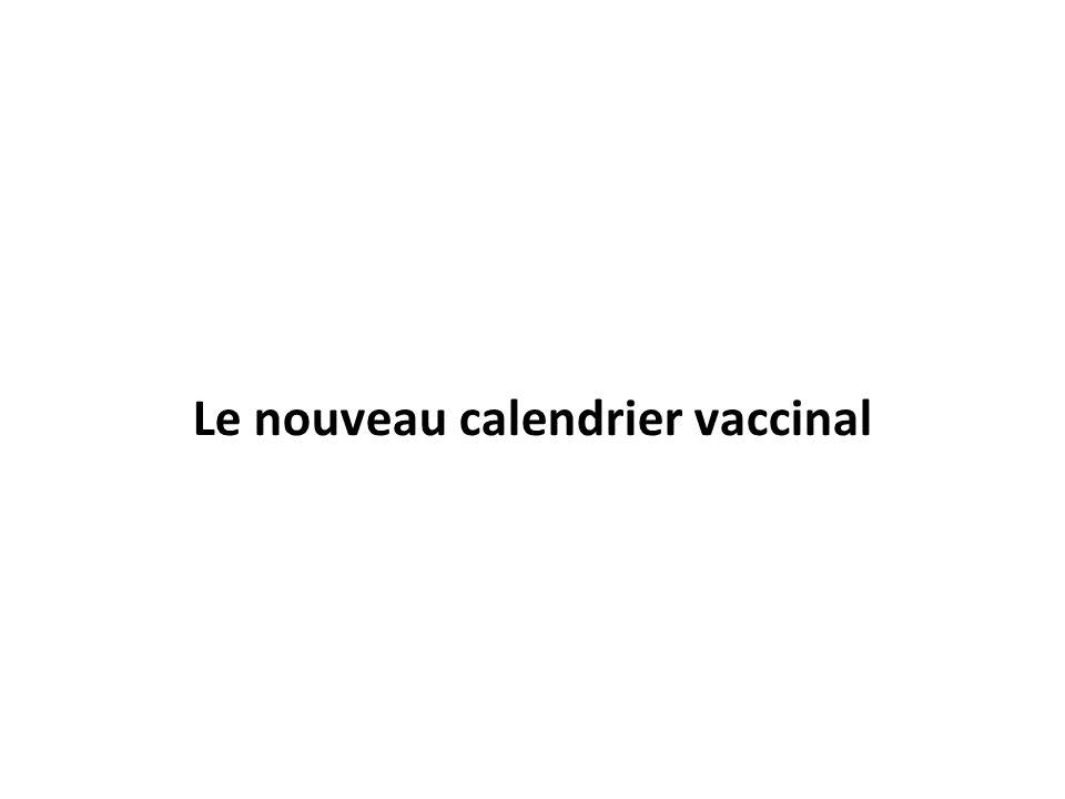 Le nouveau calendrier vaccinal