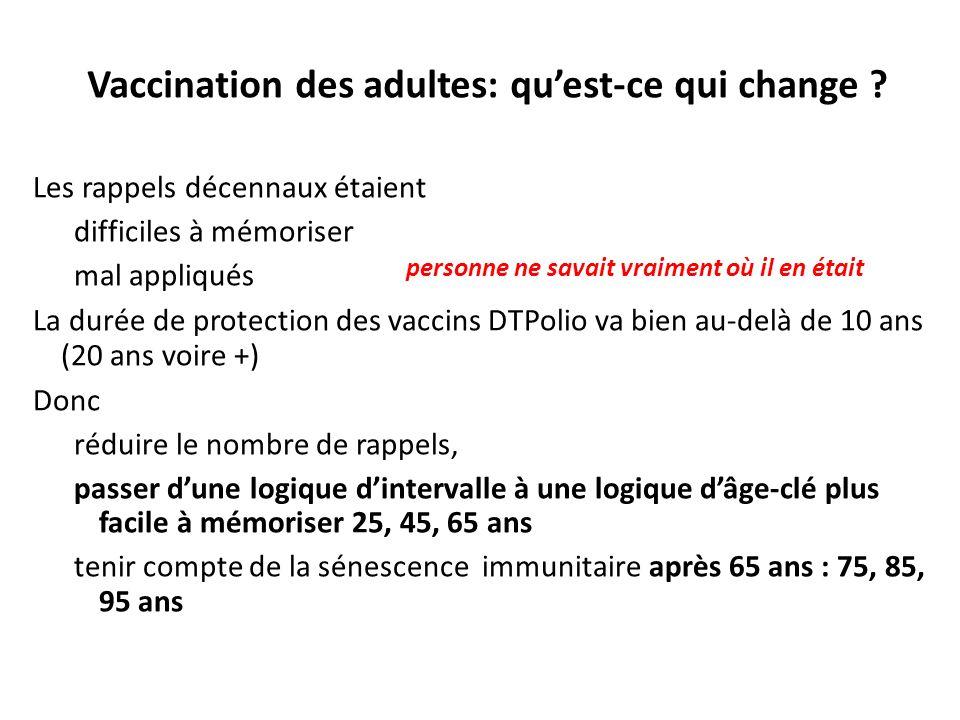 Vaccination des adultes: qu'est-ce qui change
