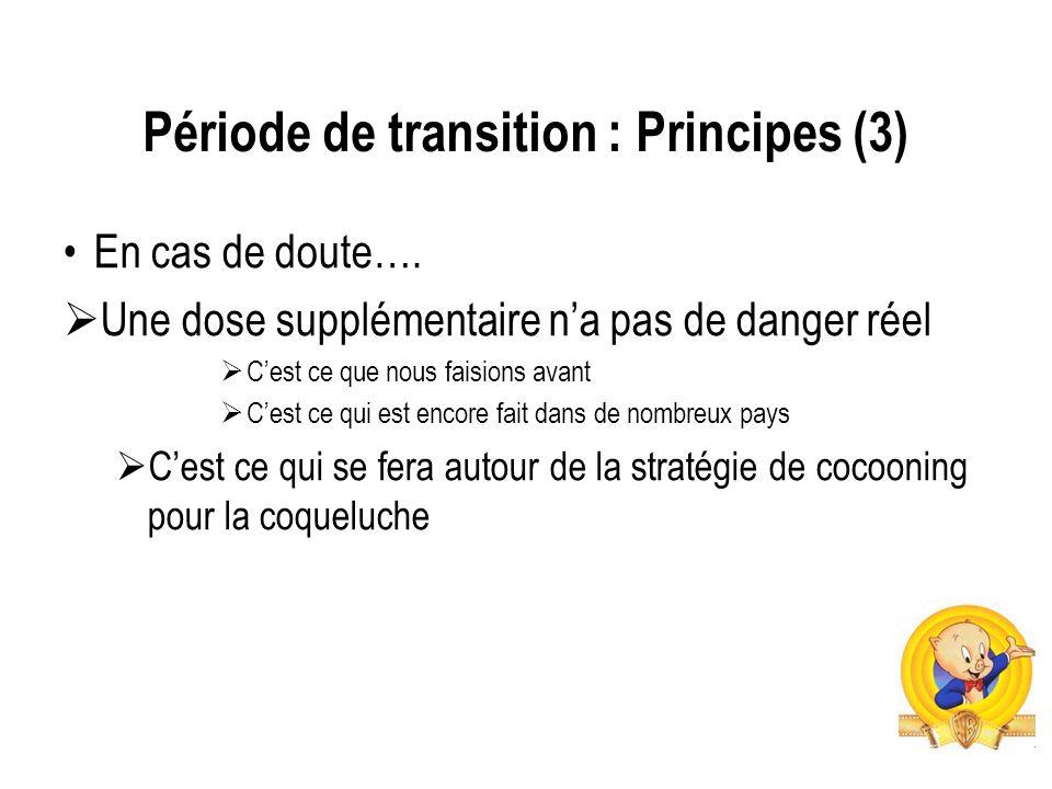 Période de transition : Principes (3)