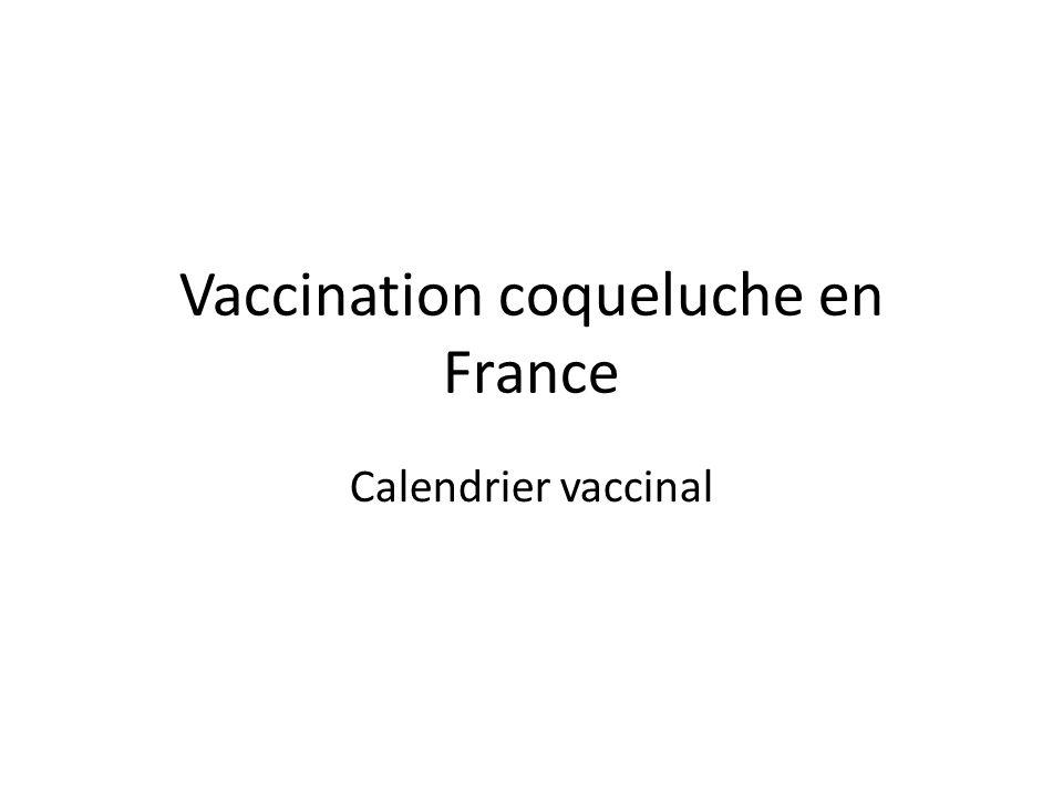 Vaccination coqueluche en France