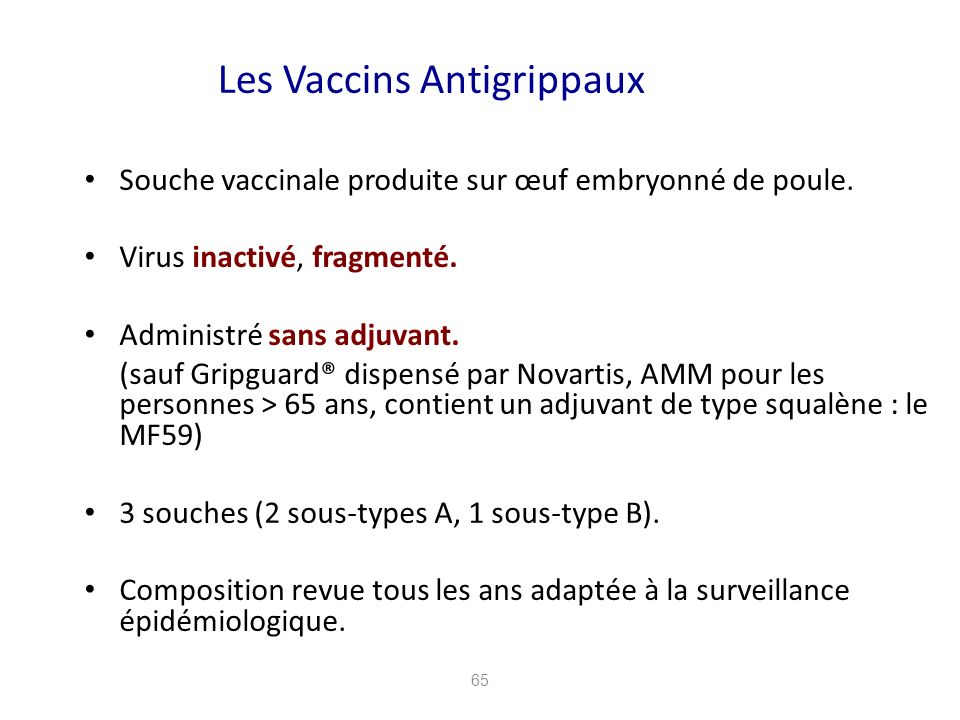 Les Vaccins Antigrippaux