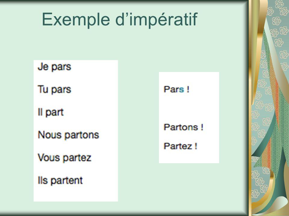 Exemple d'impératif