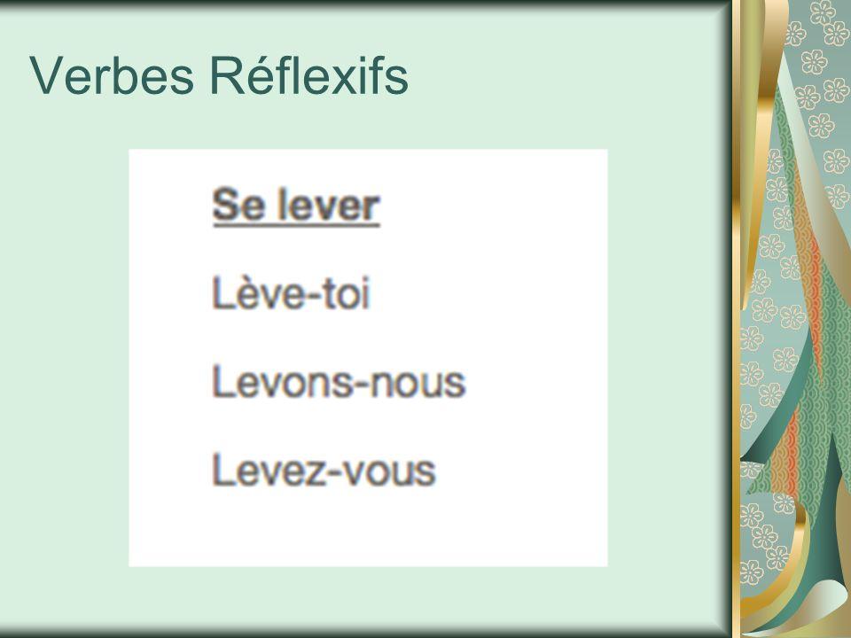Verbes Réflexifs