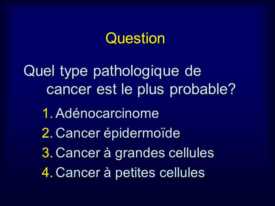 Quel type pathologique de cancer est le plus probable