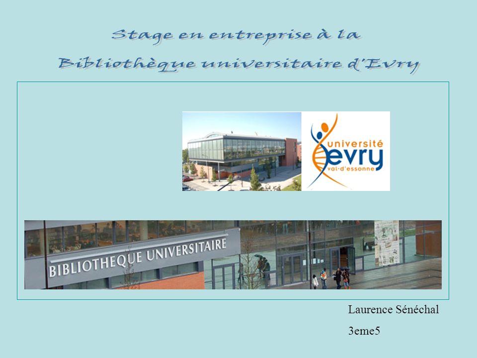 Stage en entreprise à la Bibliothèque universitaire d Evry
