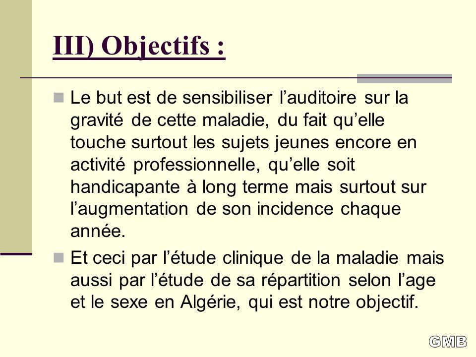 III) Objectifs :