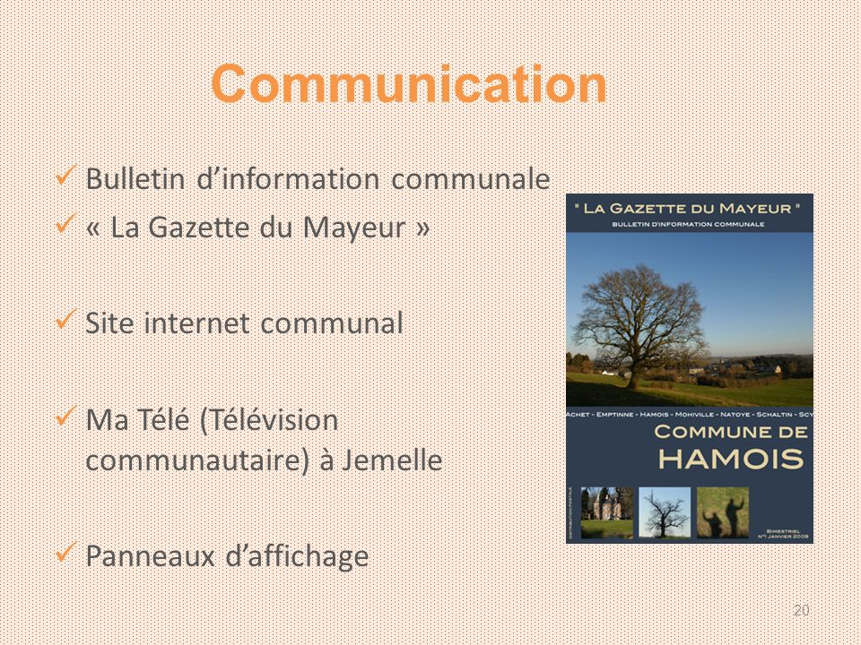 Communication Bulletin d'information communale